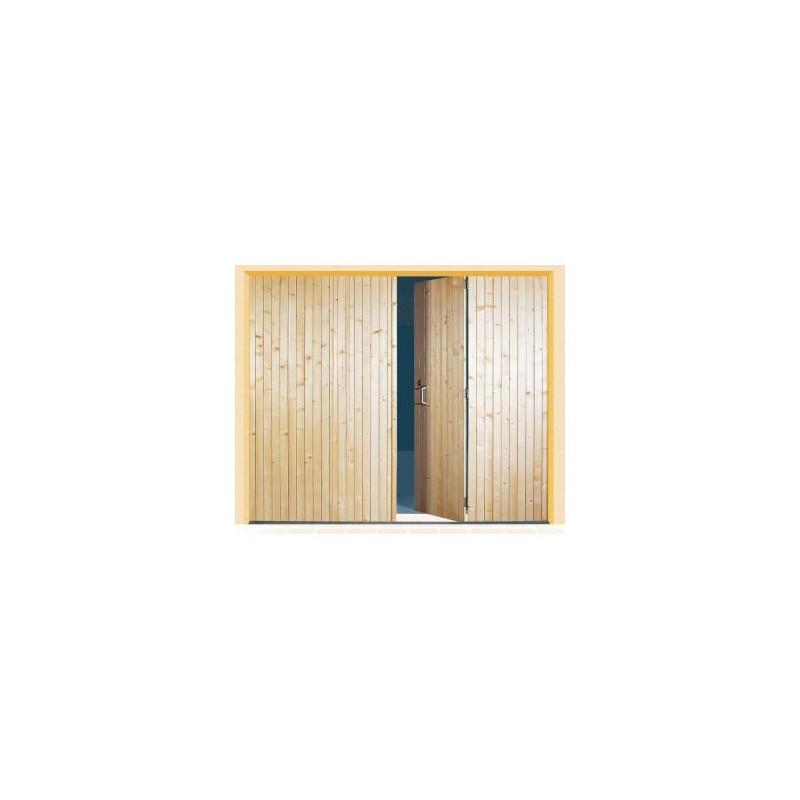 Porte lames verticales en bois a la belle fen tre for Porte bois exterieur 2 vantaux