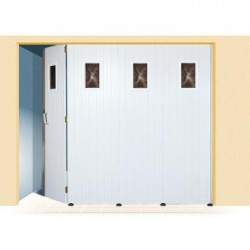 Porte coulissante PVC blanc